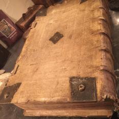 Ref. 55 – Antiek boek Historia Christiana Veterum Patrum