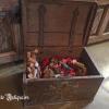Ref. 61 – Antieke eikenhouten bruidskoffer foto 2