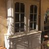 Ref. 39 – Antieke Ardeense deux corps vitrinekast foto 3