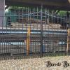 Ref. 106 – Oude smeedijzeren 2-vleugelige poort foto 2