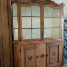 Ref. 57 – Antieke Hollandse vitrinekast foto 1